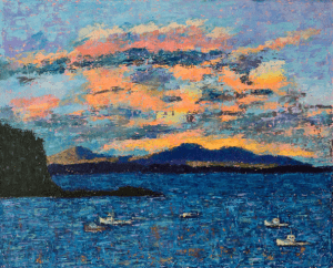 Kathleen Hall, Frenchman's Bay, oil on canvas, 30 X 24, © The Artist