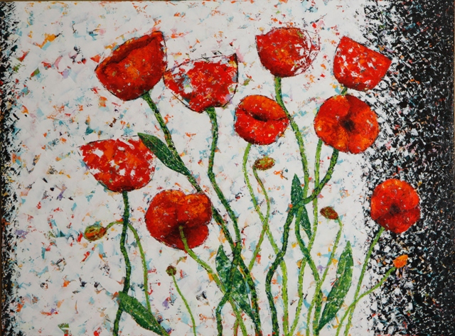 Kathleen Hall, Bursting Forth, oil on canvas, 48 X 36  © The Artist