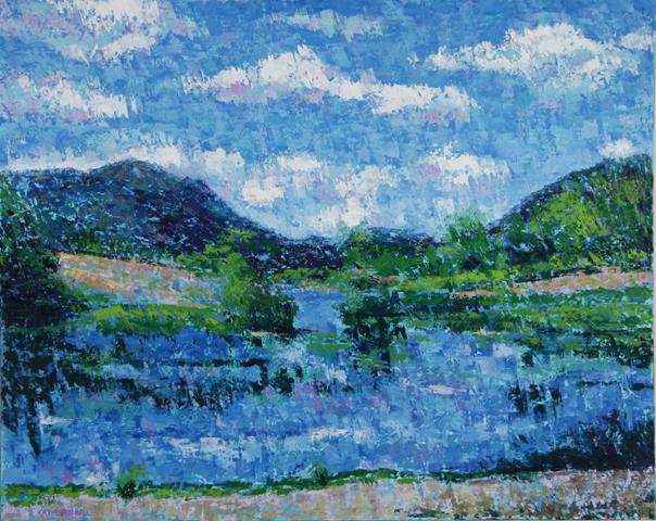 Little Long Pond, oil on canvas, 30 X 24 (c) Kathleen Hall