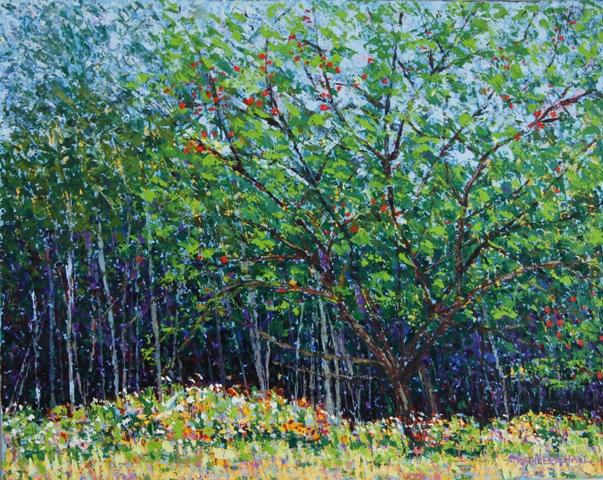 At the Wood's Edge, oil on canvas 20 X 16 (c) Kathleen Hall