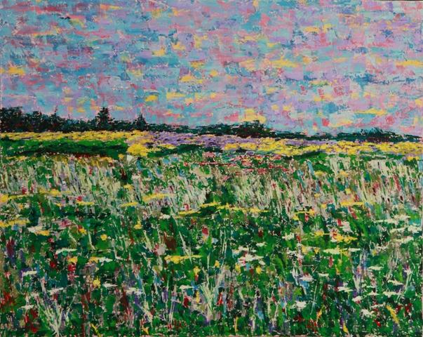 Field of Wildflowers, oil on canvas, 30 x 24 (c) Kathleen Hall